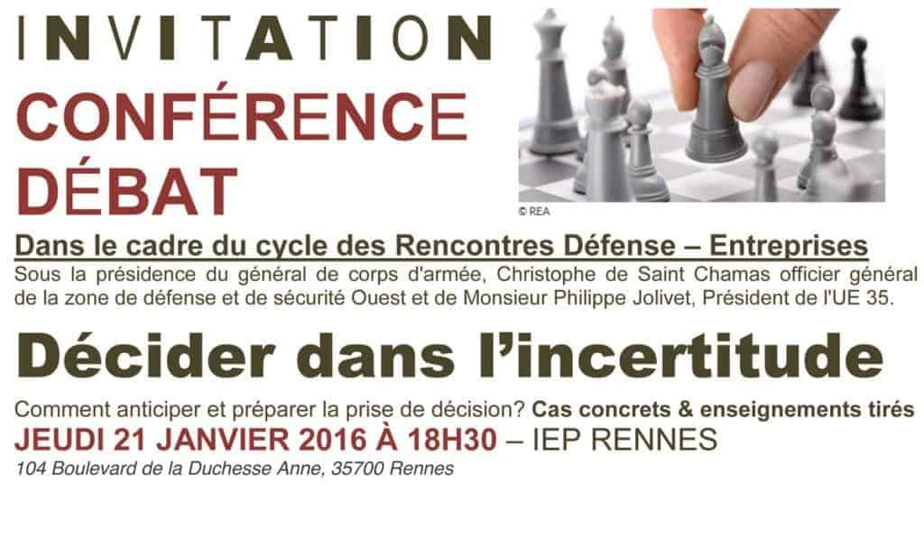 conference decider dans incertitude