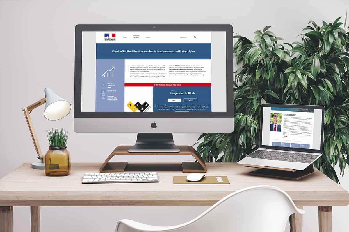 Exemple site web rapport d'activité SGAR