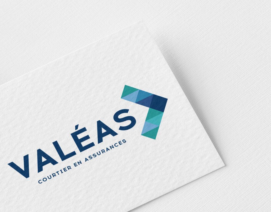 Valéas assurances logotype charte graphique site internet Rennes