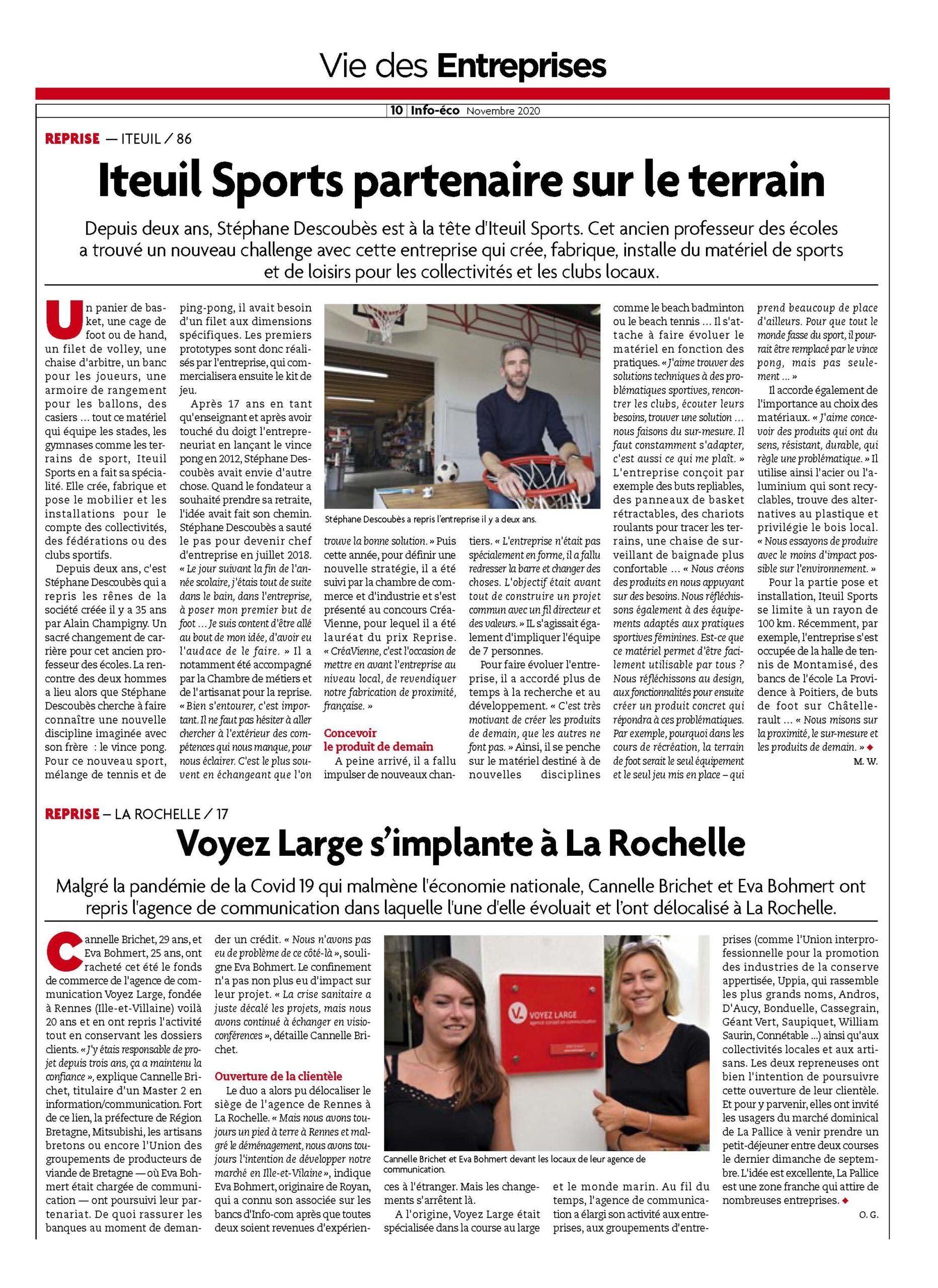 Info éco Voyez Large La Rochelle - Rennes