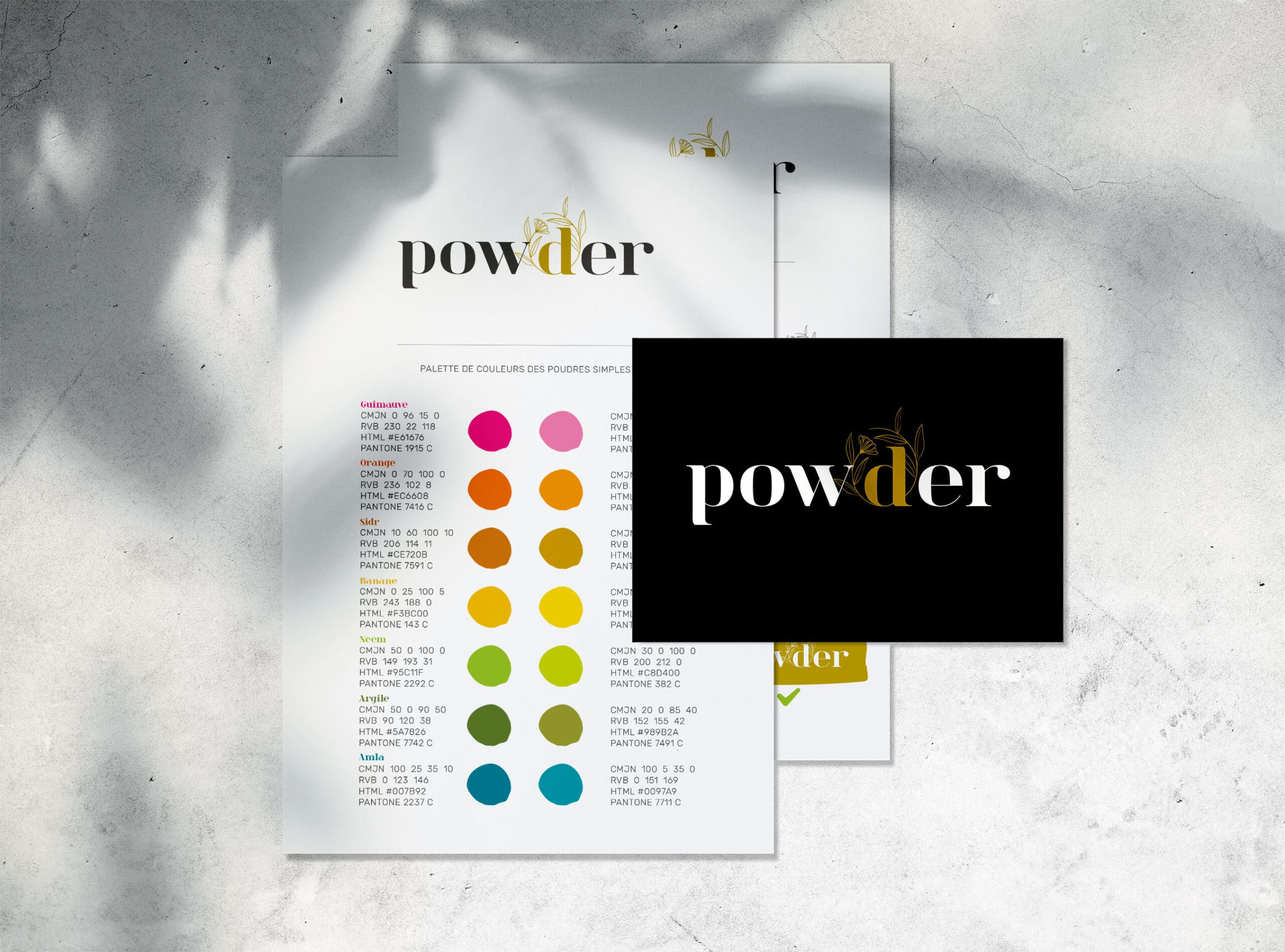 powder logo charte graphique Rennes